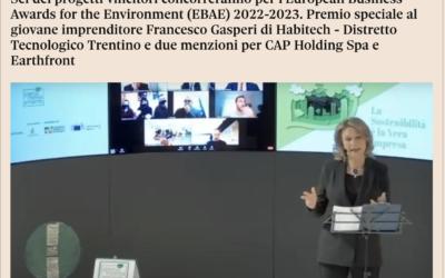 Premio Impresa Ambiente, cinque aziende sul podio: Edileco, Caviro, Ecoplasteam, Waste to Methane ed Enel