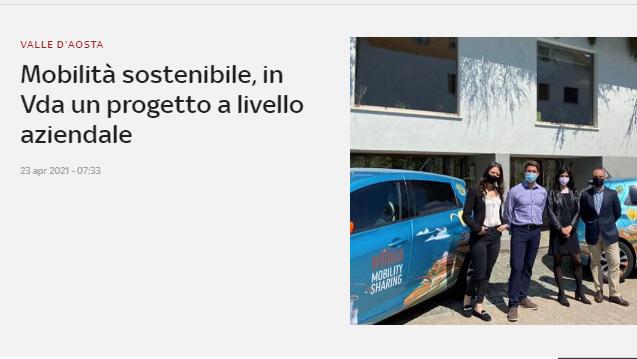 Mobilità sostenibile, in Vda un progetto a livello aziendale