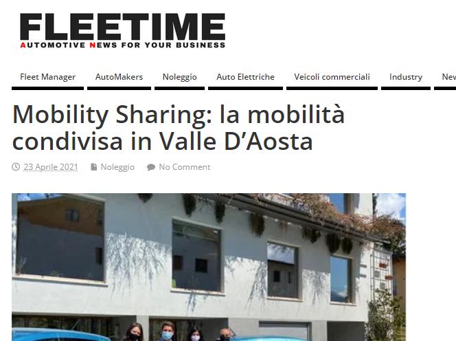Mobility Sharing: la mobilità condivisa in Valle D'Aosta